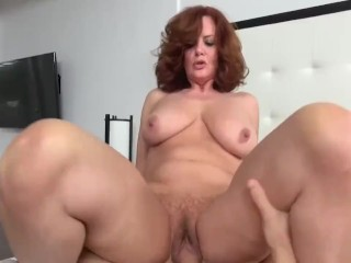 Hot milf with bug tits fucked