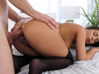 Edged until her orgasm is ruined loud and intense trembling orgasm