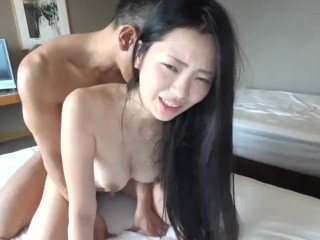 Teen riding huge dildo